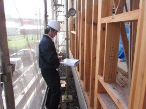 建築中の住宅検査